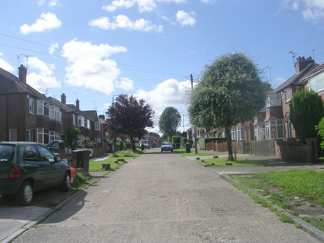 Abbotsford Road - looking towards Lawrence Street