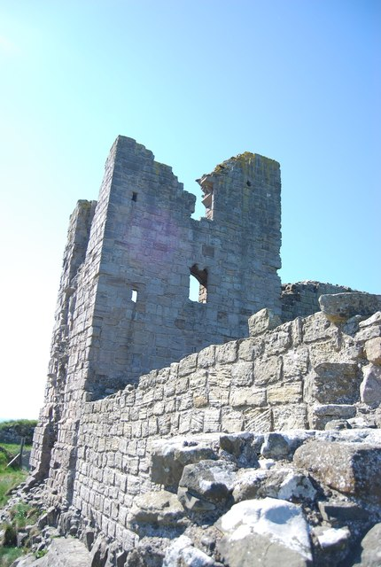 Dunstanburgh Castle - ruined tower