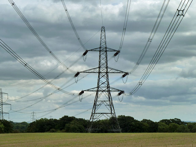Corner pylon near Billingshurst