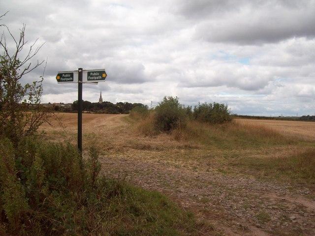 Footpath Junction near Laughton en le Morthen