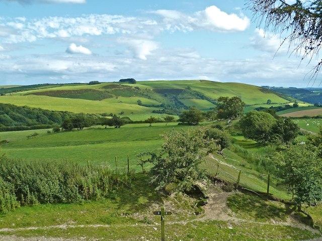 View from Offa's Dyke, above Llanfair Waterdine