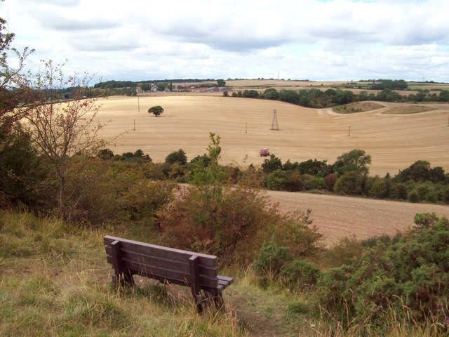 Bench and Viewpoint Above Hooton Dike