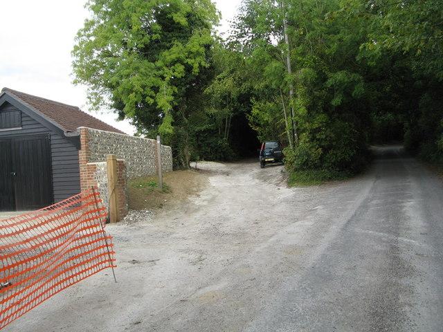 Bridleway meets the lane