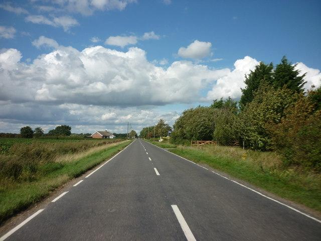 Looking north along Langrick Road
