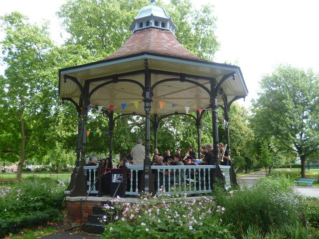 Myatts Fields Park bandstand