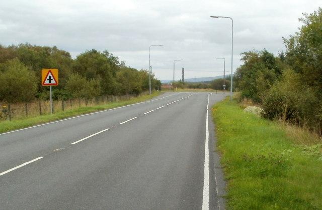 Junction ahead, A4221 near Coelbren