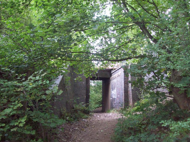 Railway Bridge and Footpath near Maltby