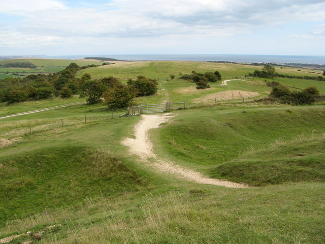 One of the paths leading to Cissbury Ring