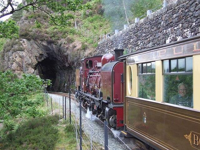 Welsh Highland Railway, second (north) Aberglaslyn tunnel