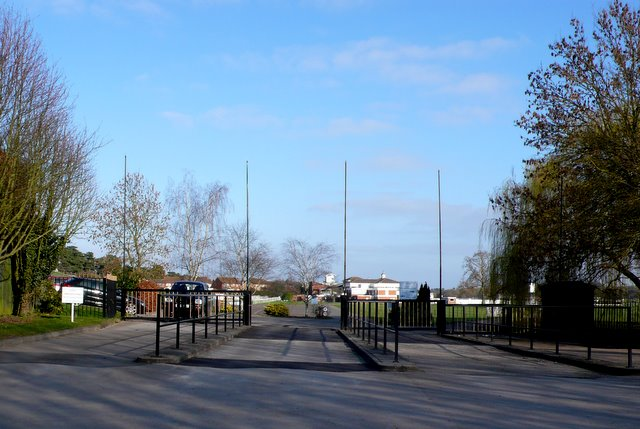 Entrance to Stratford Racecourse.