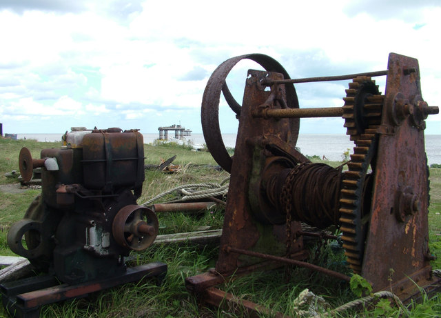 Beach winch, Sizewell beach