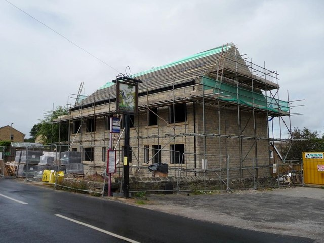 New building, next to the Shoulder of Mutton pub
