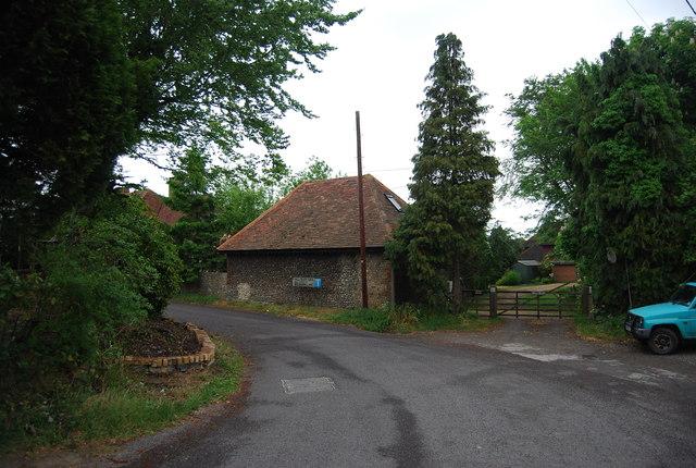 Flint barn, Kings Barn Lane