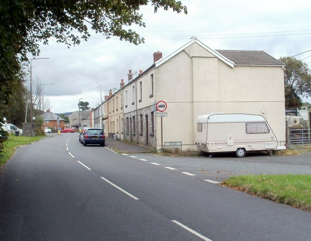 Price's Row, Coelbren, viewed from the west