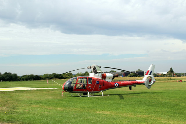 Helicopter at Rochester Airport, Kent