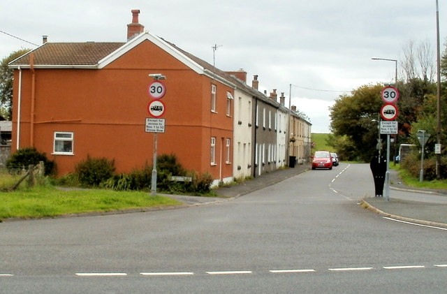 Price's Row, Coelbren, viewed from the east