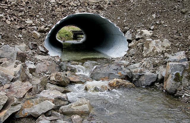A culvert at the Logan Water