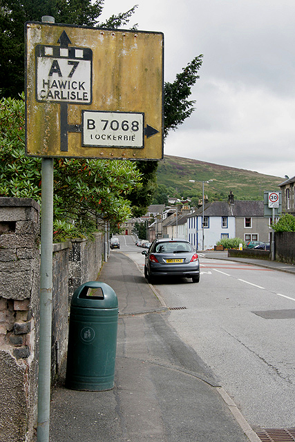 A Pre-Worboys sign at Langholm