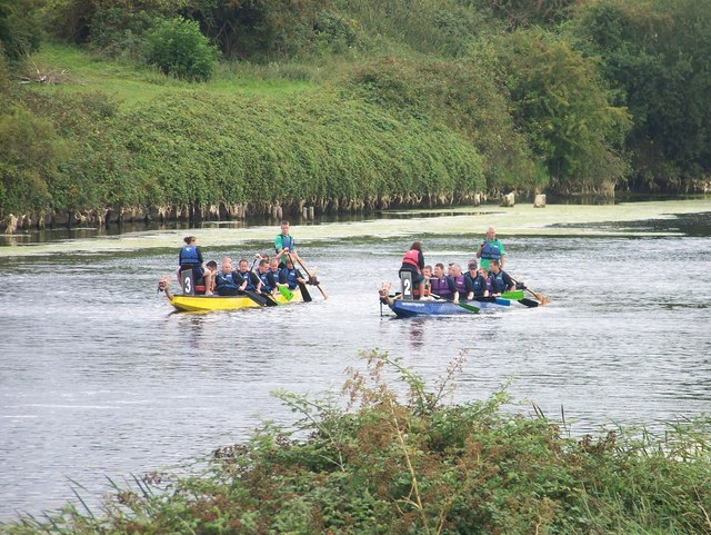 A dragon boat race on the Great Ouse Relief Channel