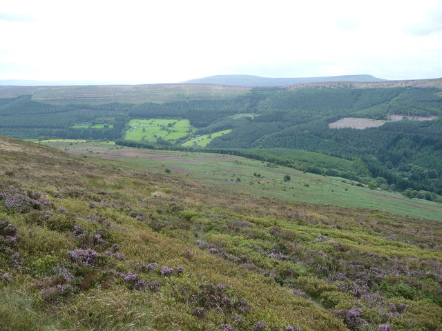 View south-west from Bal-Mawr