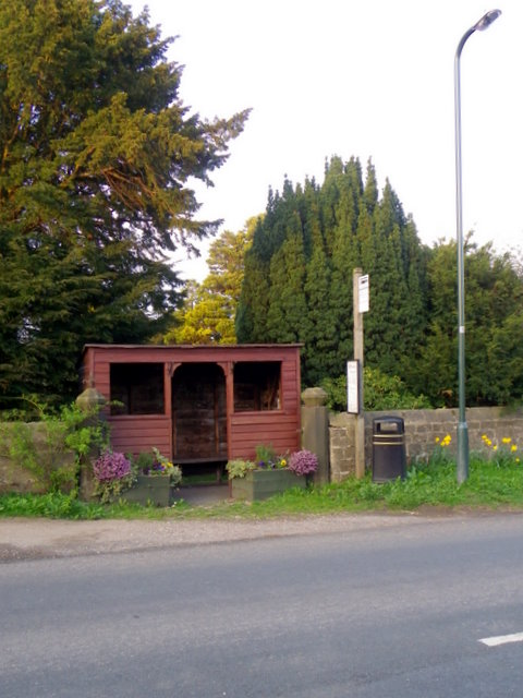 Bus shelter, Sawley