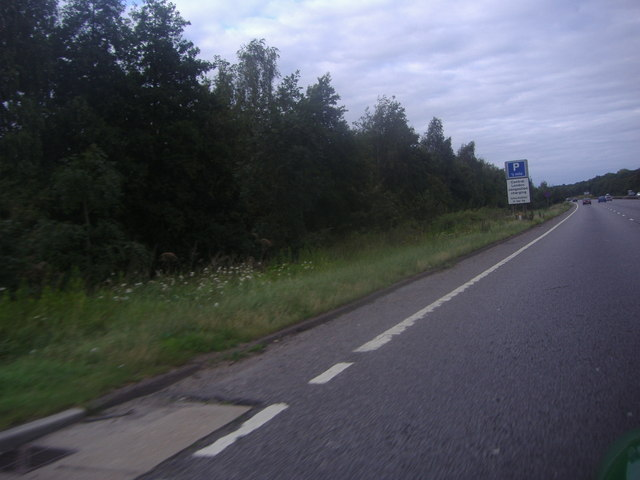 The A3 passing Abbotswood