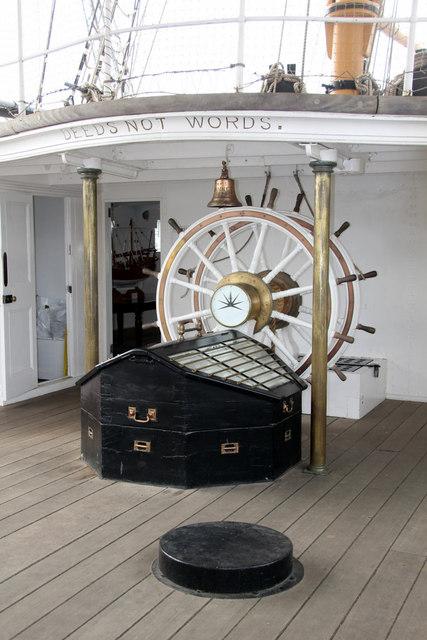 Wheel, HMS Gannet, Chatham Historic Dockyard, Kent