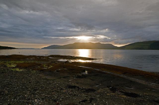 Loch Scridain at sunset
