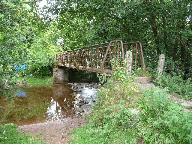 Metal footbridge near Llanthony