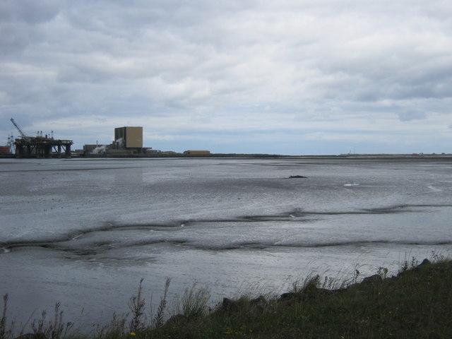 Seal Sands at low tide