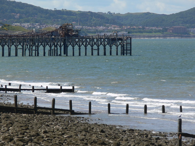 Jetty at Llanddulas beach
