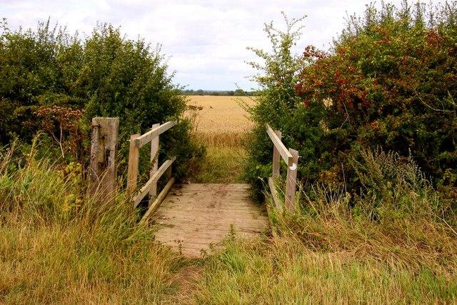 Footbridge on the bridleway
