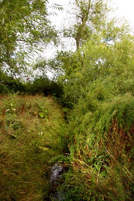 Drainage ditch by Marcham Mill