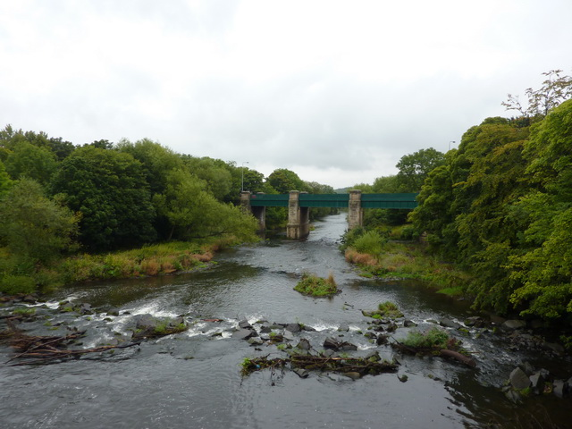 River Wear with Croxdale Bridge