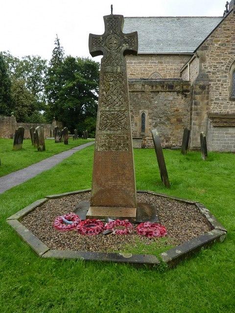 St Mary's Parish Church, Gainford, War Memorial