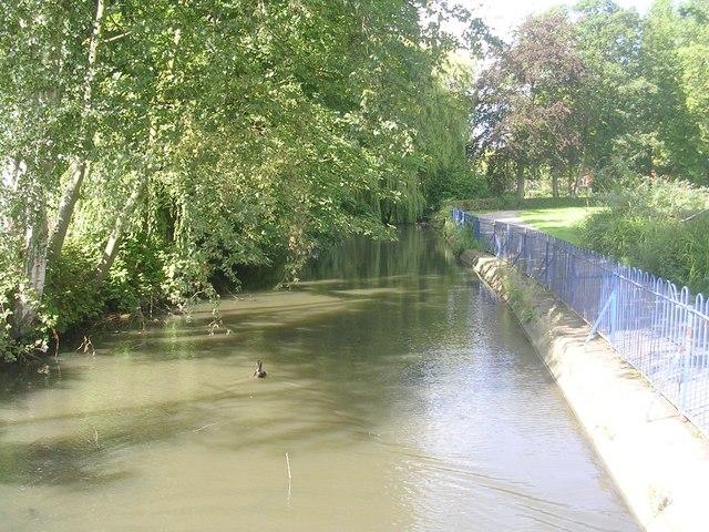 Osbaldwick Beck - from Footbridge, Hull Road Park - off Millfield Avenue