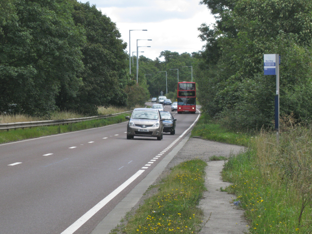 Bus stop and lay-by, A45 Birmingham Road