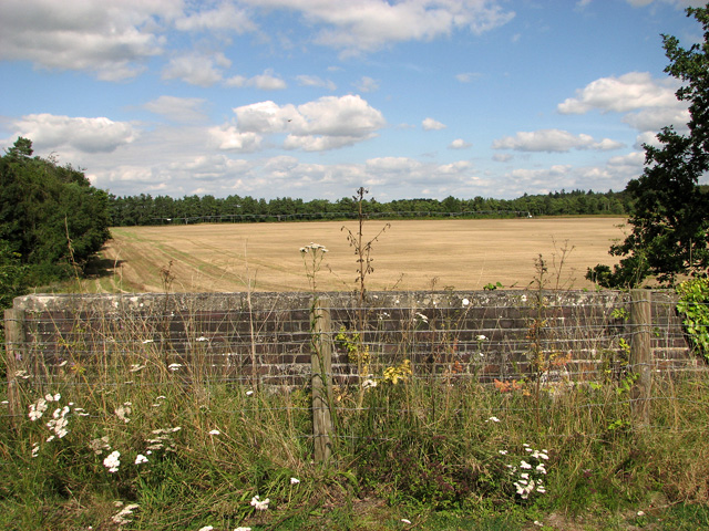 View from disused railway bridge, Narborough