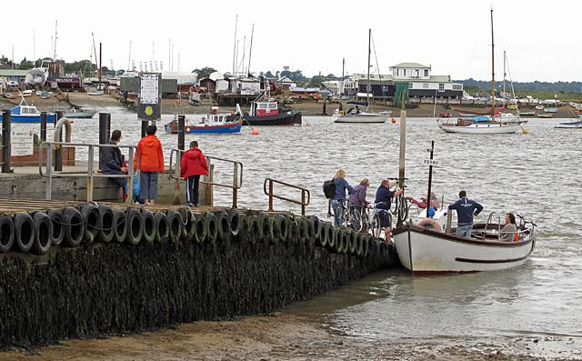 Boarding the Deben Ferry