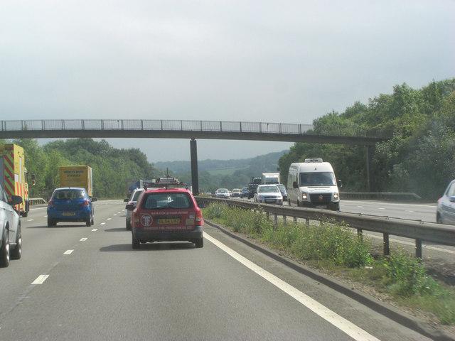 M25 footbridge carries Greensand Way