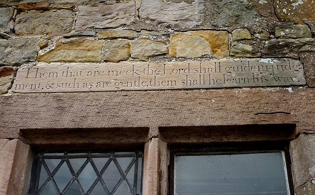 Inscription, Reagill village hall