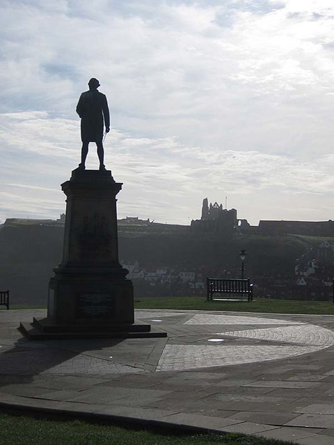Captain James Cook's statue, Whitby
