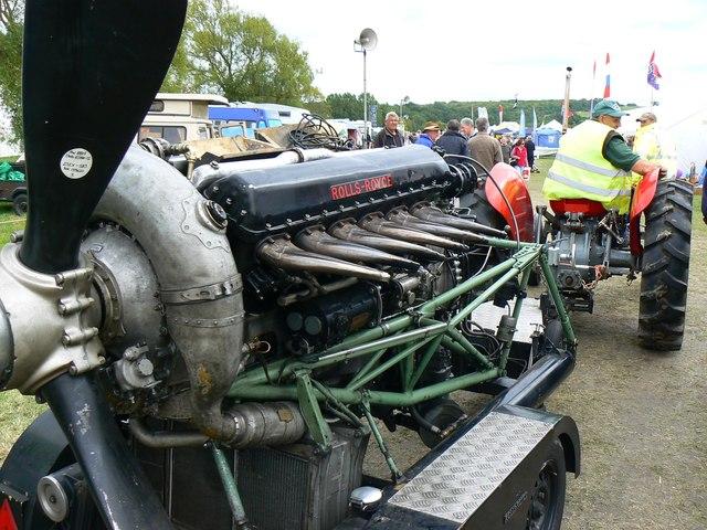 Rolls-Royce 'Merlin' engine (1 of 3), White Horse Show, Uffington 2011
