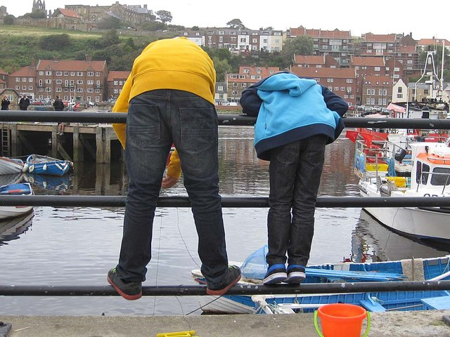 Crabbing in the River Esk