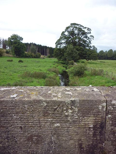 Bench mark on north parapet of Howebeck Bridge