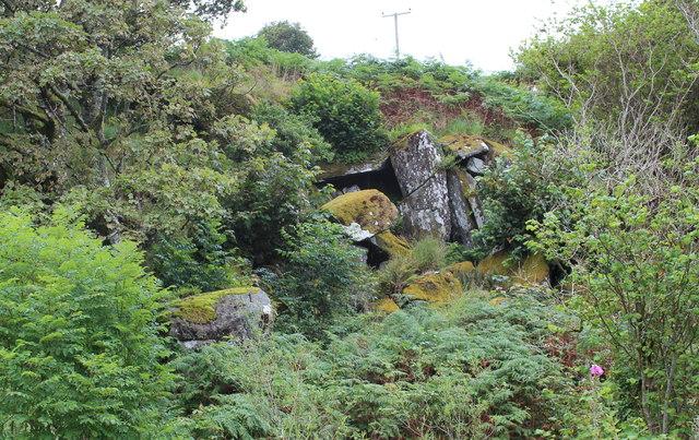 Rock outcrop near Crinan Ferry