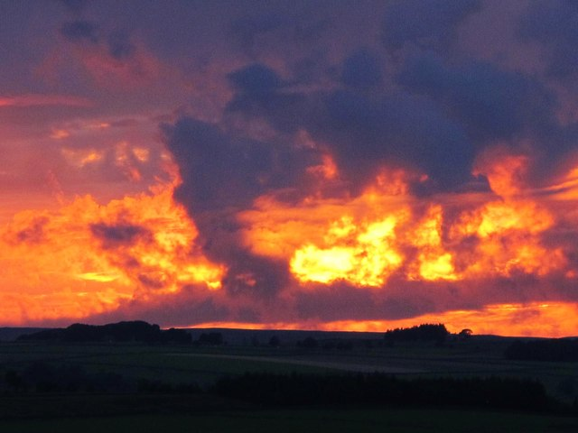 Sunset over East Allen Dale