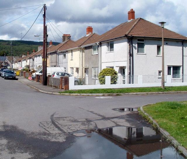 Eastern side of Pentre Street, Glynneath
