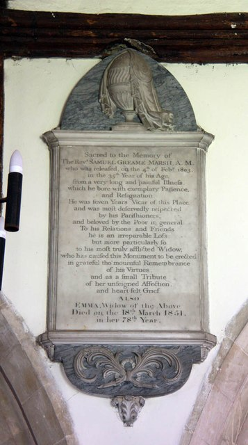 St Mary, Manuden - Wall monument