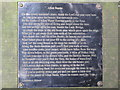 NY7963 : Plaque with a poem by Lawrence Hewer on a seat by the riverside path at Allen Banks by Mike Quinn